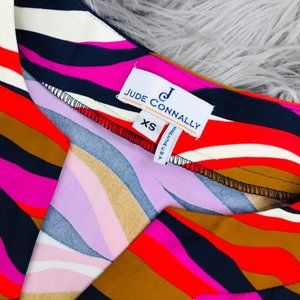 Jude Connally Dresses - Jude Connally Long Seeve V Neck Dress